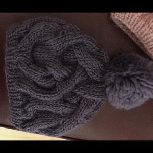 Purple Winter Knit Pom Hat Brand New Adult Women
